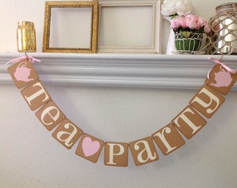 Tea Party Banner Vintage Style