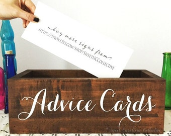 Rustic Wedding Advice Box | Wedding Card Box | Wedding Card Holder | Wedding Programs Box | Rustic Cards Box | Wedding Box -  WS-182