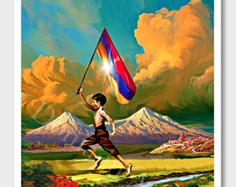 Armenian Independence Day, Armenia, Armenian Flag, Ararat, Armenian, Անկախության օր, Digital Art, Armenian Independence, Armenian Decor