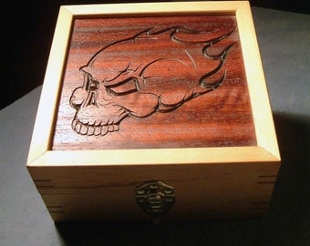 Flaming Skull Box
