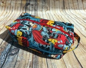 Superman Man of Steel Comic Inspired Toiletry Make Up Necessity Bag