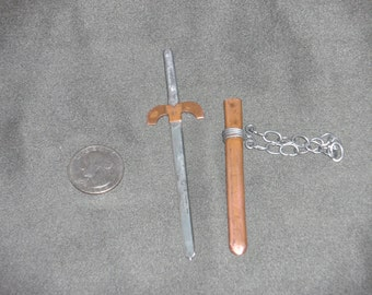 functional hand forged springsteel miniature broad sword