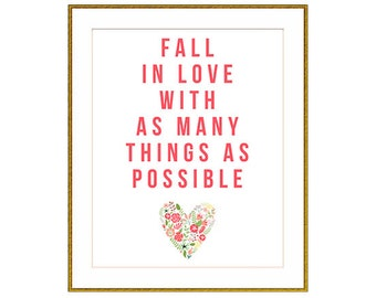 Fall In Love Print (INSTANT DOWNLOAD)