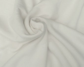 "Organic Cotton Fleece Fabric by Yard Non Optic White 65""W 12/14 (Diaper Insert)"