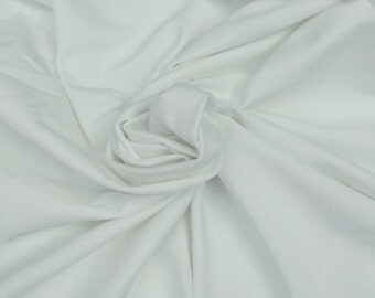 "Organic Cotton Spandex Jersey Knit Fabric Eco-Friendly By the Yard - Off White Dyeable 12/14 59""W"