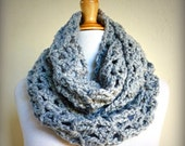 """Scarf """"Nadine"""" in PEARL GREY Infinity scarf / cowl - knitting, chunky, fashion, accessories, gifts for her, Winter, Wool, Woolen"""