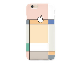 iPhone case - 'Pastel Grid Graphic' - iPhone 5s case, iPhone 6s case, iPhone 7+ case, iPhone SE, iPhone 7, non-glossy hard shell M27.