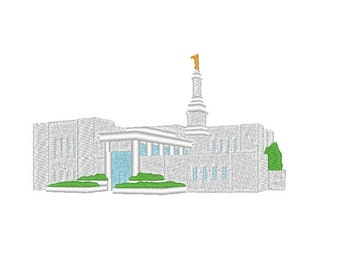 Anchorage Alaska Temple Simple Small Embroidery Machine Design