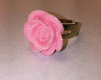 Pink Rose Bloom Ring