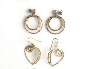 Vintage Earrings-Lot of 4