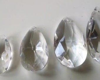 4 Sizes Asfour Teardrop Chandelier Crystals 38mm 50mm 63mm 76mm Varying Size Prism
