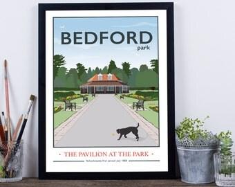 Bedford Park, Pavilion Giclee Print