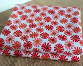 Fat Quarters ~ Red, Coral, Flower Fabric ~ Riley Blake ~ Roots and Wings
