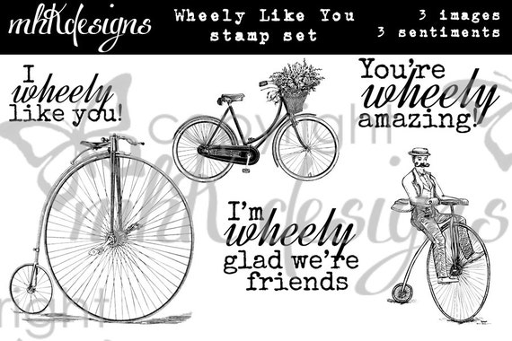 Wheely Like You Digital Stamp Set