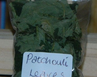 PATCHOULI LEAVES - Home Grown Loose Magical & Healing Herb - Money - Protection - Luck - Spells and Incense – Magic - Wicca – Pagan