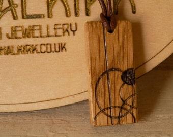 Wooden Oak pendant