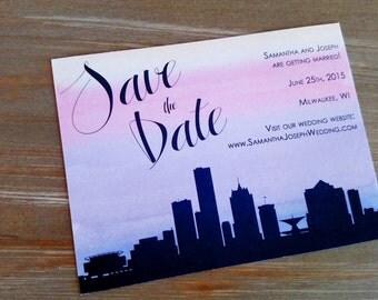 Milwaukee Skyline Save the Date