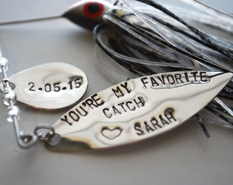 Fishing Lure, Personalized Mens Gift-You're my favorite catch- Christmas