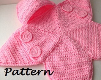 Crochet Beaded Bag Pattern : Baby bunting crochet pattern Etsy