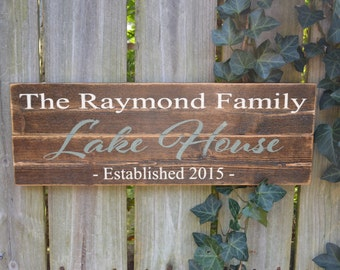 Personalized Lake House Sign, Lake House Decor, lake sign, personalized lake decor, custom lake house sign, lake lover, Cabin sign