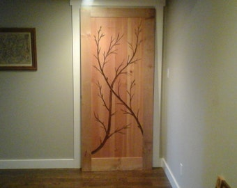 Artistic interior door