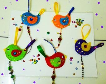 Cute Felt ornaments.Embellishments,decor,Hanging decor,Felt mobile