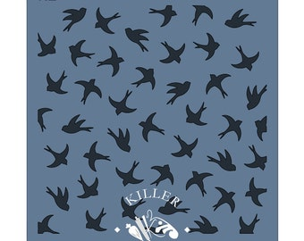 """Sparrows 5.5"""" x 5.5"""" Stencil"""