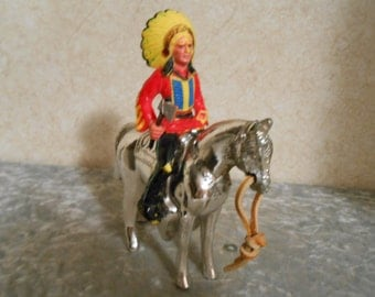 1950's Indian & His Pony