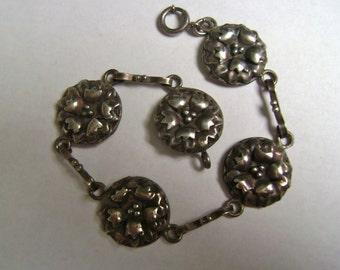 sweet sterling flower bracelet