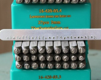 3mm Jenna Sue Font Alphabet Letter Combination Stamp Set- 3MM Combo Jewelry Metal Stamps- SGCH-JSUJSL3MM