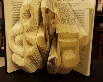 "Folded Book Art  - Made to Order ""Music Notes"""