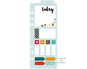 Planner Bookmark with Sticky Notes - Planner Post It Notes - Planner Sticky Notes - A5 Planner Inserts - Carpe Diem Simple Stories - 506778