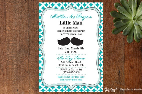 Little man printable baby shower invitation personalized boy baby il570xn filmwisefo