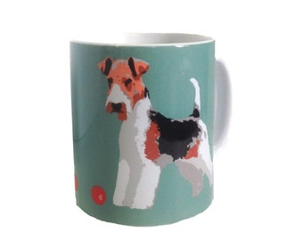 Fox Terrier with Gift Box