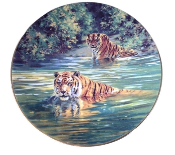 Wilderness Art Print Plate from Bradford Exchange, Donald Grant, Cool Cats, Sovereigns of the Wild Limited Edition Plates