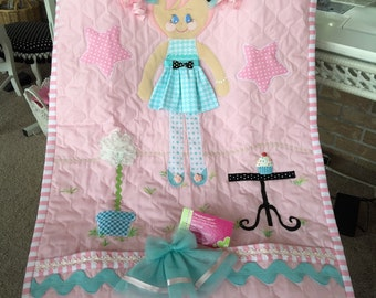 Dress up Doll Quilt - Made to order