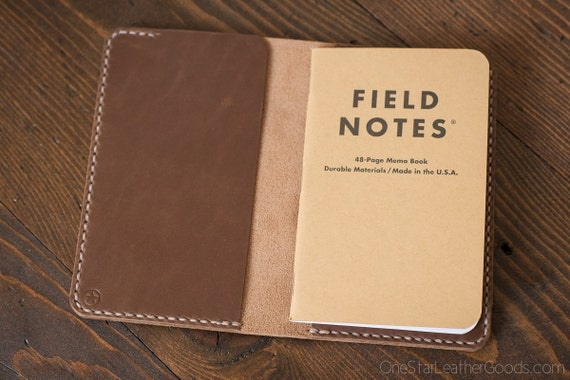 """Notebook cover, 3.5 x 5.5"""", Field Notes cover, Horween Chromexcel leather - natural chromexcel"""