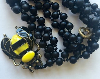 Busy Bee Beeaded Necklace