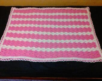 Baby blanket crib blanket afghan stroller blanket  lot 119