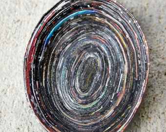 Black Oval Magazine Bowl
