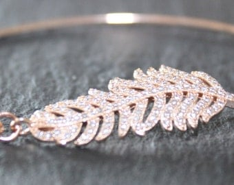 Feather Bracelet Feather Bangle Rose Gold Feather Bangle Rose Gold Feather Bracelet Rose Gold Bangle Rose Gold Bracelet Rose Gold Jewellery
