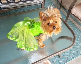 Dog Tutu Dress, Lime Green
