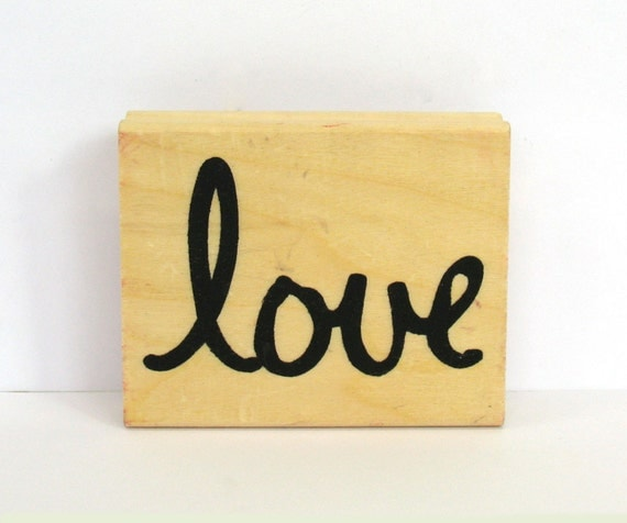 Love rubber stamp wedding love rubber stamp wood love stamp for Wedding dress rubber stamp