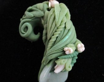 The LOVING LILY PENDANT hand sculpted aventurine