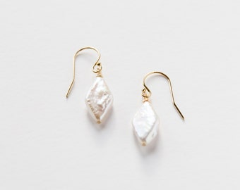 Gold Filled Pearl Earrings