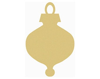 Skinny Ornament Unfinished Wooden Craft Shape, Do-It-Yourself