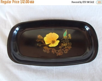 Vintage Couroc Of Monterey Flower Tray