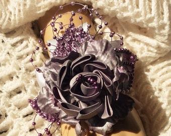 Plum Wrist Corsage-Bridal Corsage-Bride's Wedding Corsage-Mother of the Bride Corsage-Bride's Flowers-Plum-Bridesmaid's Corsage-Prom Flowers