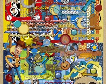Toy Story Digital Scrapbook Kit