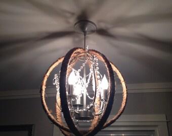 """18"""" rope orb chandelier"""
